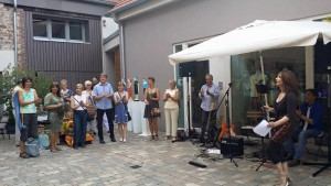Kunst-im-atelierhof, erste Open-air-Kunstaustsellung, UNICO-Klassik&Design, elvira-treutler