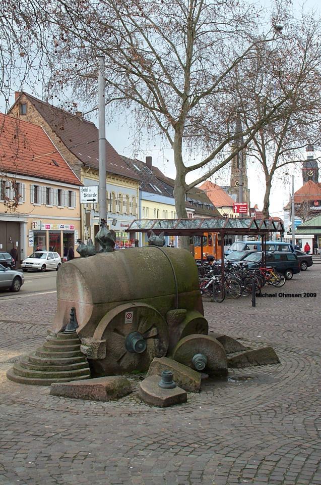 Zabbebrunnen auf den Seckenheimer Planken