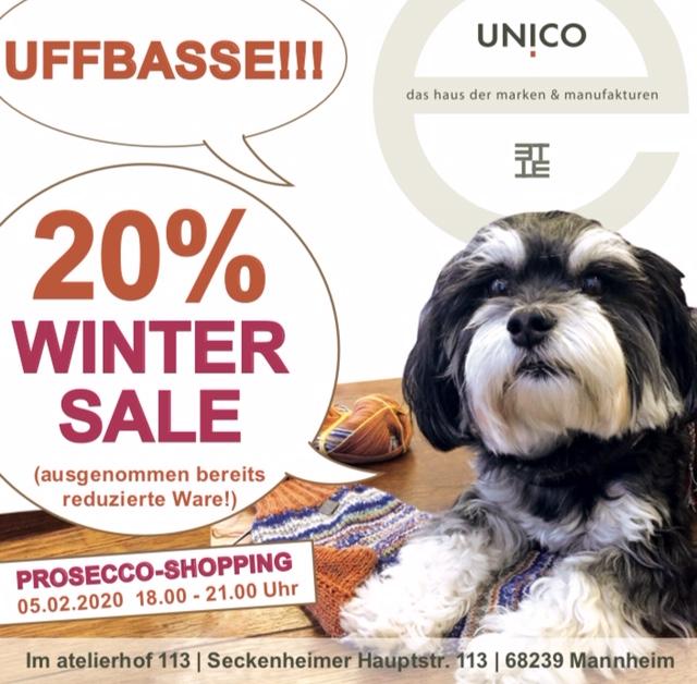 Prosecco-Shopping, UNICO Mannheim, Winter-Sale